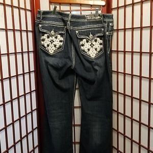 Size 21 LA Idol sparkly jeans! Stand out!